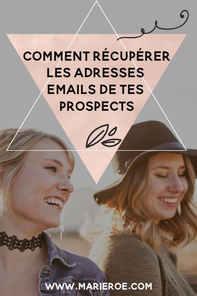 récupérer les adresses emails de mes prospects